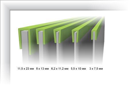 Профиль противоскользящий г-образный резиновый (окантовка ступени)